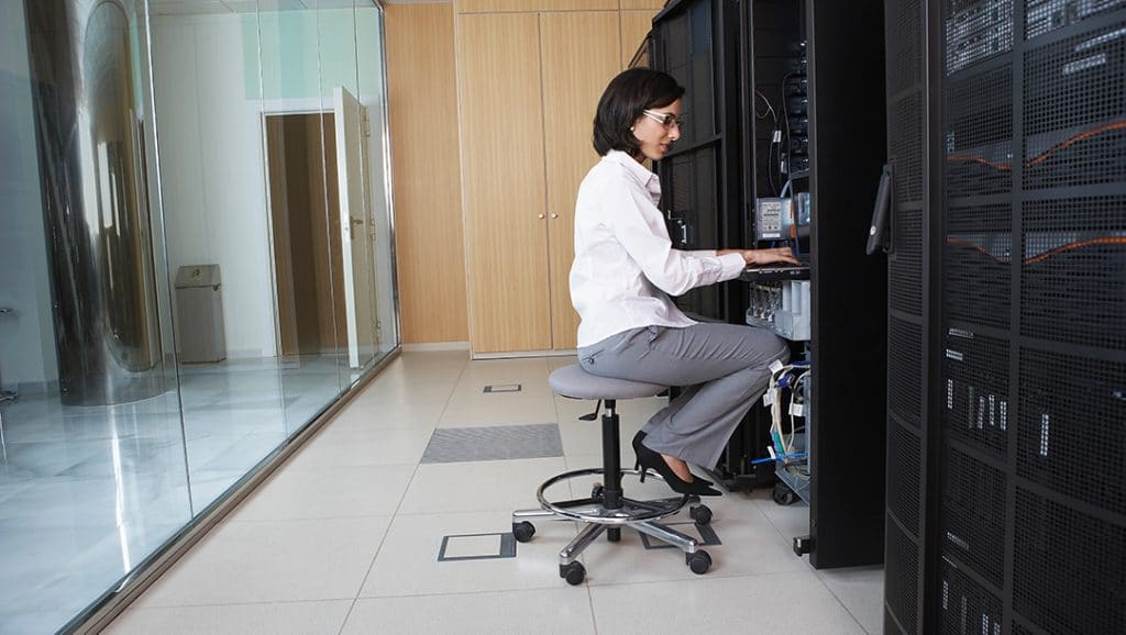 Technician in Server Room
