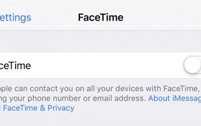 Apple iOS FaceTime Privacy Bug