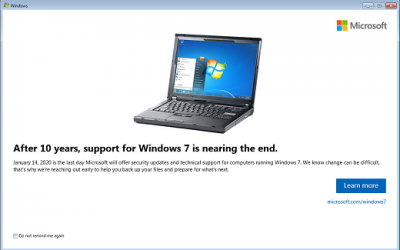 Windows 7 End Of Life – Time is Running Out